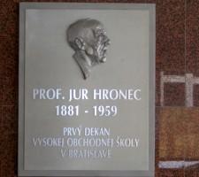 prof. Juraj Hronec (1881 – 1959)