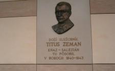 Pamätná tabuľa Titus Zeman
