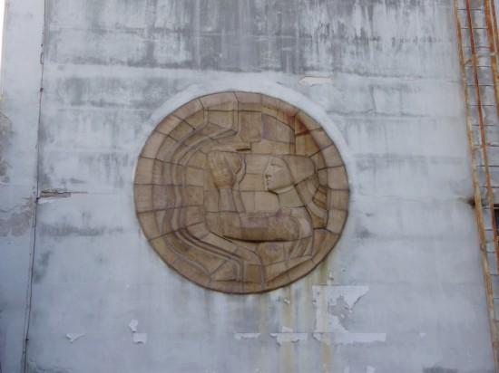 keramický reliéf